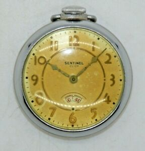 Sentinel Click Vintage Mechanical Wind Up Pocket Watch, Working Condition.