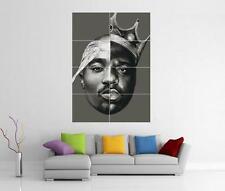 2pac Biggie Smalls TUPAC Notorious B.i.g Wall Art foto STAMPA POSTER