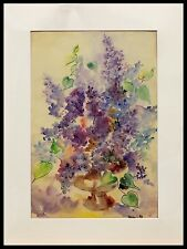"""Shirley Little """"Abstract Floral"""" 20"""" x 14"""" Watercolor on Paper, signed"""