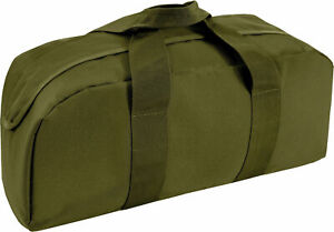 """Olive Drab Tanker Tool Bag Carry Gear Large Long 19"""" x 9"""" x 6"""""""
