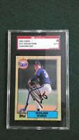 Nolan Ryan 1987 Topps #757 Signed Astros HOF Autographed Authentic SGC