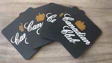 Set of 4 Canadian Club CC rubber Drink Coasters bar mat runner