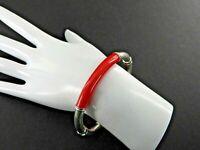 """Vintage Milor Italy Bracelet Bangle Hinged Enamel Solid 925 Sterling Silver 6.5"""""""
