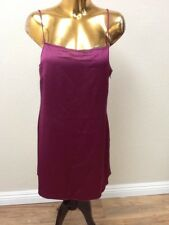 French Connection Women's Sasha Satin Strappy Mini Dress Size 10 In Dark Magenta