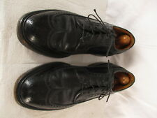 Florsheim Imperial Vintage Mens Black Longwing V-Cleat Dress Shoes 7.5D