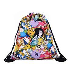 Women's Backpack Adventure time printed drawstring bag beach bag 39*30CM