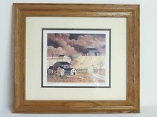 Charles Wysocki Americana Framed Matted Print Quail's Roost March 1979