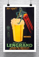 Beer Frog Vintage French Advertising Poster Rolled Canvas Giclee Print 24x32 in.