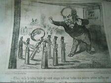 Litho Caricature 1851 Jeu de Quilles la même boule qui vient culbuter mes quille