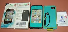 Redpepper waterproof case for iPhone 4/4s, Sky Blue & Black, new in retail box
