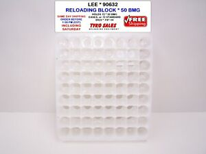 LEE PRECISION * 90632 * RELOADING BLOCK * 50 BMG * HOLDS 72 CASES OR DIES *90632