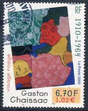 STAMP / TIMBRE FRANCE oblitere N° 3350  TABLEAU ART / GASTON CHAISSAC