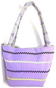 Purple Handbag Bucket Bag LG New Handmade Inner Pockets Snap Closure Lightweight
