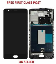 LCD Display Screen Digitizer with Frame Assembly For OnePlus Three 3 A3000 A3003