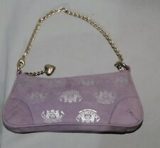 Lavender Suede JUICY COUTURE Small Purse w Metallic Silver Design