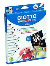 Fila-Giotto Décor Materials - 12 multisurfaces Peinture Marqueurs