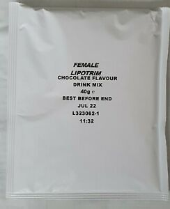 21 SACHETS 1 WEEK TFR LIPOTRIM DIET SHAKES FOR FEMALES CHOCOLATE FLAVOUR ONLY