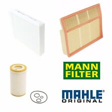 For Mercedes W163 ML320 ML350 ML430 Cabin Air Oil Filters Kit Mahle/OEM Mann