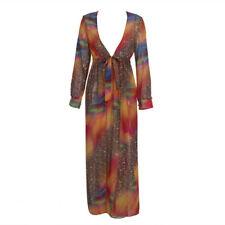 Us Women's Mesh Bikini Cover-up Summer Cardigan Swimwear Beach Long Kimono Dress