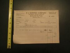 P J Downes Company Implements Engines tractors cars trucks 1917 Letterhead 397