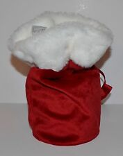 BATH & BODY WORKS RED SANTA GIFT BAG LARGE 3 WICK CANDLE HOLDER SLEEVE 14.5 OZ