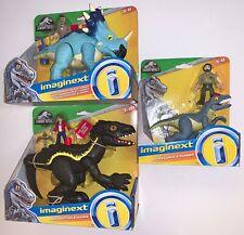 Jurassic World Pachyrhinosaurus, Indoraptor and Allosaurus & Ranger Imaginext