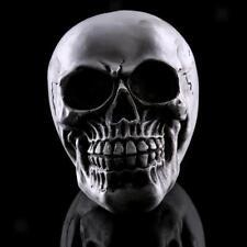 Resin Skull Statue Figurine Human Skeleton Head Halloween Home Bar Decor #2