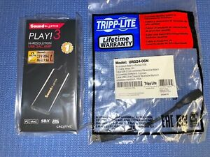 New Creative Sound Blaster SB1730 Play! 3 USB DAC PC/Mac 24 bit 96kHz + USB ext