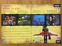 Sin PC 1998 Vintage Video Game Print Ad/Poster Art Official Big Box Promo Rare
