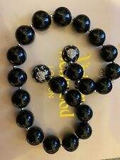 Vivienne Westwood Black Orb Necklace