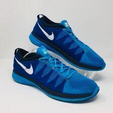 7e88d73f7f Nike Flyknit Lunar 2 vivos Azul/Blanco-Juego Real 620465 414 para hombres  talla 15