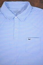Vineyard Vines Performance Pocket Polo Shirt Blue Stripe Men's XXL