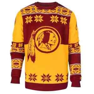 NFL Team Apparel Mens Size Large Washington Redskins Ugly Christmas Sweater