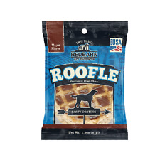 Redbarn 25ct roofle Dog Treats Chews FRESH Rawhide Chicken Maple Bully Roofles