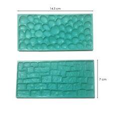 Moule silicone 3D pierre brique pour pâte à sucre, cake design, décoration
