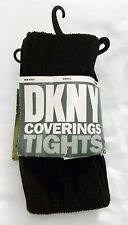 Donna Karan DKNY Coverings Tights Rib Knit Pantyhose Brown size Small Style 680