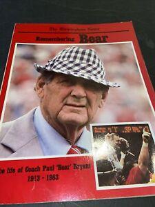 "REMEMBERING BEAR 1983 Alabama CRIMSON TIDE Football Life of Coach ""BEAR"" BRYANT"