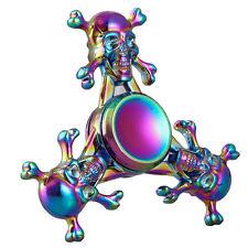 Rainbow Skull Head Fidget Spinner Fidget Toy EDC Hand Finger Desk Focus Metal
