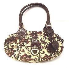 SHARIF Hobo Bag in Shimmering Floral Brocade with Croco Leather Trim - NEW!