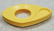 Lot of 8 - Vintage WilPak Plastic Paper Plate & Drink Holders – Yellow, Made Usa