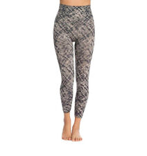 Spanx Women Cropped Look At Me Now Seamless Leggings Gray Watercolor S MSRP $68