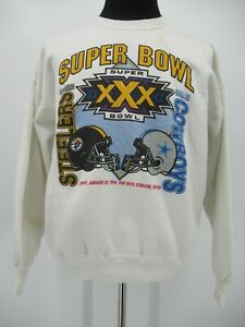 L6905 VTG Pittsburgh Steelers Dallas Cowboys 1996 Football-NFL Sweatshirt XL