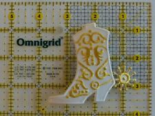 Cowboy Boot/Spur White Gold  Western - Iron on Appliqué Patch
