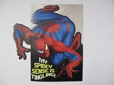 Fantástico colorido contorneada cortar el Hombre Araña Cumpleaños tarjeta de saludo