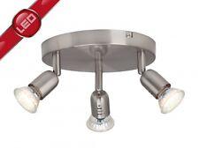 LED Plafoniera rotonda faretti metallo 3x2,5 watt design moderno corridoio 55779