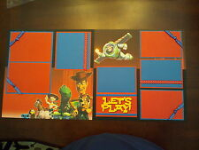 """Disney Pixar Toy Story Scrapbook Layout 2 Pages 12""""x12"""" Buzz & Woody Let's PLay"""