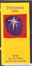 AUSTRALIA, 1998 CHRISTMAS BOOKLET, SG SB 126, , MNH COMPLETE