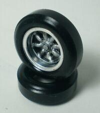 1/32 URETHANE SLOT CAR TIRE 2 pr PGT-20062V fit BWA BW15-200 Alloy Wheels