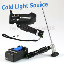 US FAST CE Handheld LED Cool Cold Light Source Endoscopy 3W-10W+ BATTERY Surgery