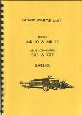 Jones Baler MK10, MK12 & ALLIS CHALMERS Baler 505, 707 parti manuale